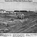 Construction of West Side Firehouse Begins. Jack and one other carpenter, Forest Lamberton, largely built the firehouse. Newspaper article, Santa Cruz Sentinal May 9 1954. Santa Cruz, California c.1954.